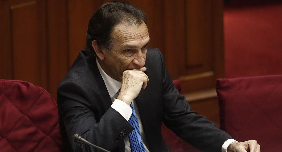 El congresista de Fuerza Popular Héctor Becerril negó estar involucrado en algún acto de corrupción en Chiclayo. (Foto: GEC)
