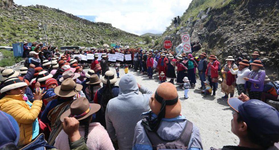 Comuneros de Fuerabamba retomarán el bloqueo de la vía de la mina Las Bambas a partir de este martes. (Foto: Antonio Álvarez / GEC)