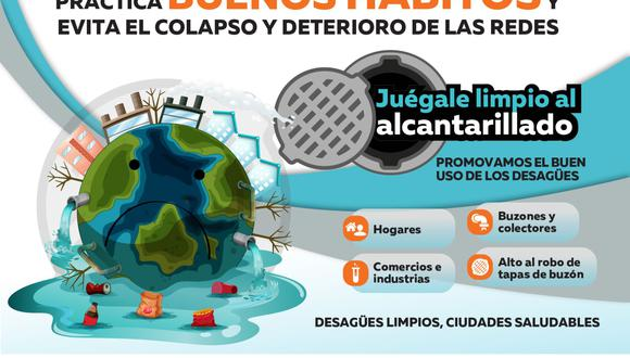 """OTASS, junto a 18 EPS y la Unidad Ejecutora Agua Tumbes, lanza campaña nacional """"Juégale Limpio al Alcantarillado"""". (Foto: MVCS)"""