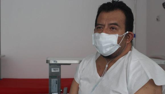 Piura: El médico Oscar Silva Yovera fue trasladado de Piura al Hospital de Emergencia de Ate, en Lima, tras contagiarse de COVID-19 y luego de 28 días fue dado de alta. (Foto Minsa)