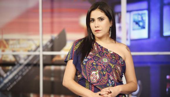 Andrea Llosa: Su programa de ATV fue sancionado por infringir horario familiar. (Andrés Valle/USI)