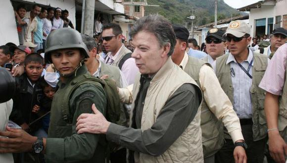 Santos no fue bienvenido. (AP)