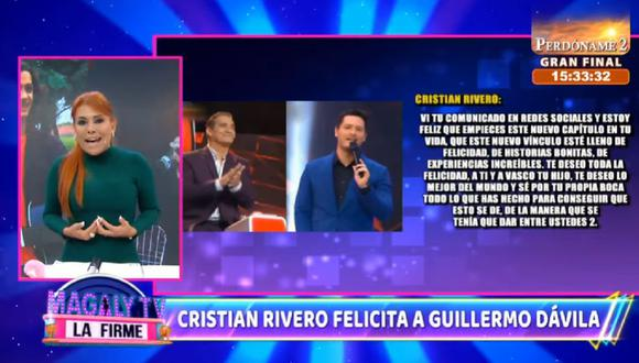 """Magaly Medina critica a Cristian Rivero, conductor de """"La Voz Perú"""". (Foto: Captura Magaly TV: La Firme)."""