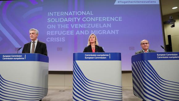 """""""Es la mejor inversión que podemos hacer"""", dijo a la prensa Federica Mogherini, responsable de política exterior de la Unión Europea. (Foto: EFE)"""