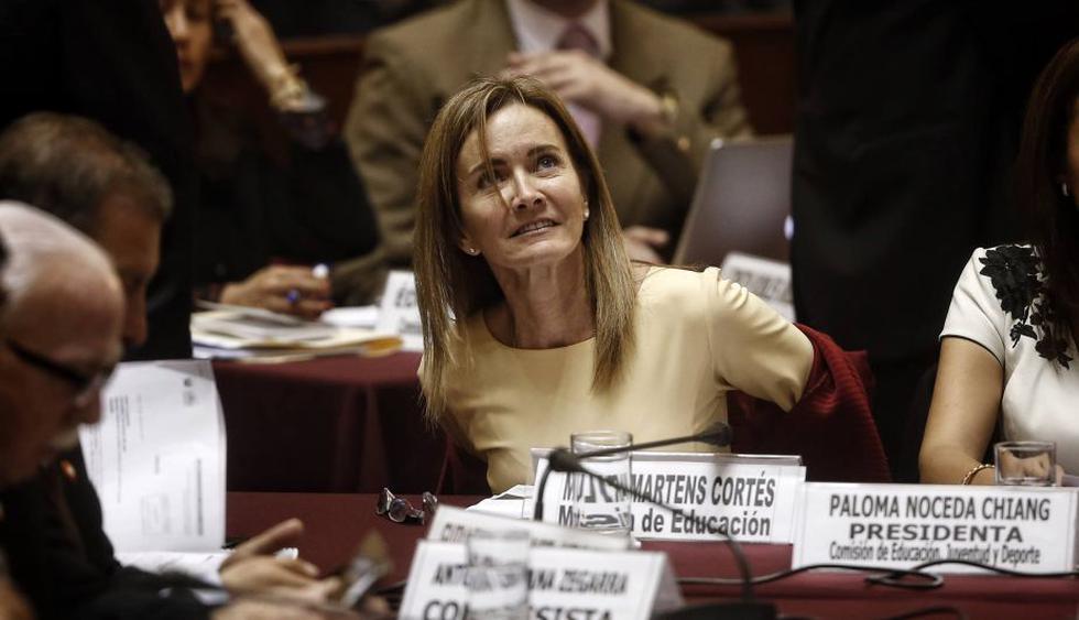 Marilú Martens: Ministra llega al Congreso para presentarse en la Comisión de Educación. (Perú21)