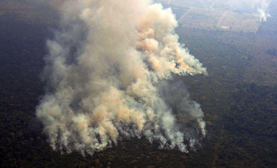 El fuego avanza por la Amazonía de Brasil. (Foto: AFP)