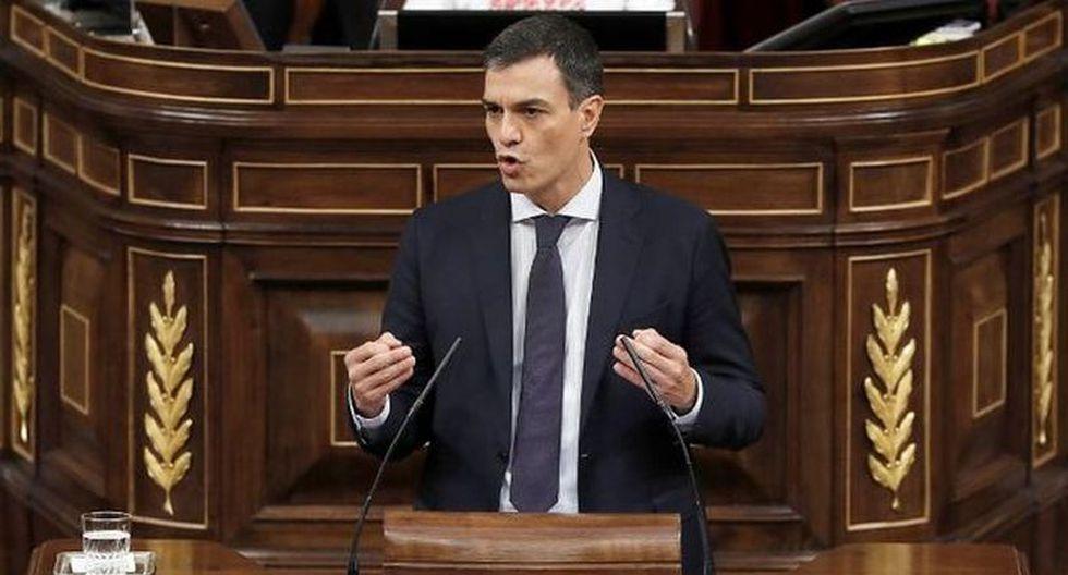 """El mandatario de España, Pedro Sánchez, precisóque """"Cataluña ahora mismo tiene un estatuto que no votó, por tanto hay un problema político"""". (Foto: AFP)"""
