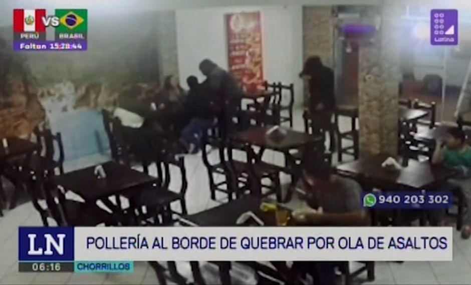 Robo se produjo en una pollería ubicada en la calle Los Titanes, en el distrito de Chorrillos. Hecho ocurrió al promediar las 8:00 de la noche. (Latina)