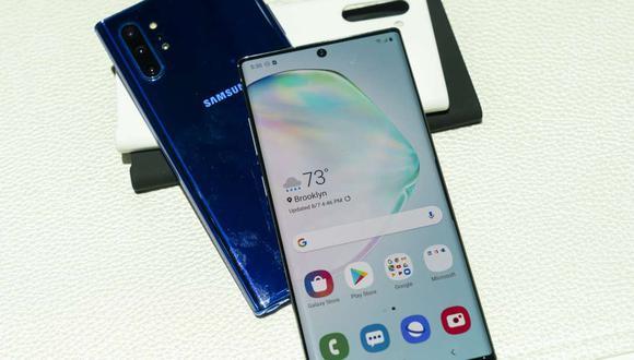 El nuevo Samsung Galaxy Note 10 fue presentados en el Barclays Center de Nueva York, el 7 de agosto de 2019. (Foto: AFP)