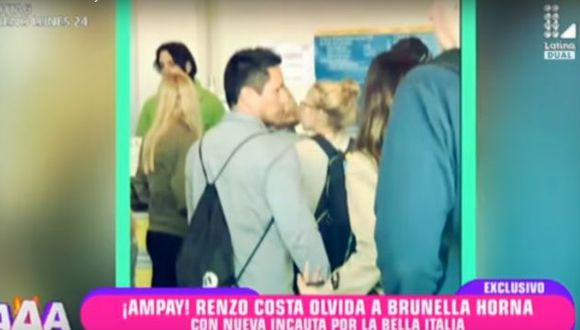 Renzo Costa fue visto con otra chica en Italia. (Amor, amor, amor)