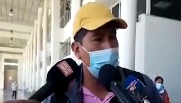 Efraín Quispe fue alabado por muchos en las redes por su accionar. (Foto: Bolivisión | YouTube)