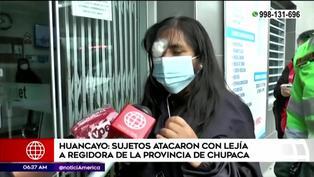 Junín: arrojan lejía en rostro de regidora de Chupaca