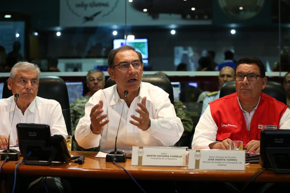Vizcarra dio el balance de las tragedias ocurridas en el sur desde el COEN. (Manuel Melgar/GEC)