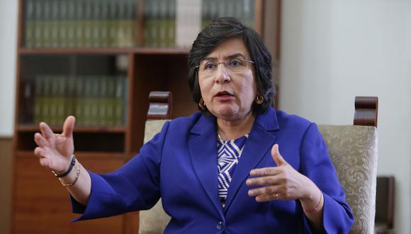 La presidenta del TC, Marianella Ledesma, cuestionó las afirmaciones de Martín Vizcarra sobre las deudas tributarias. (Foto: Alonso Chero / GEC)