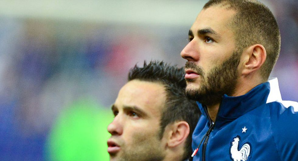 Karim Benzema y Mathieu Valbuena pertenecieron al equipo francés del Mundial Brasil 2014. (Getty Images)