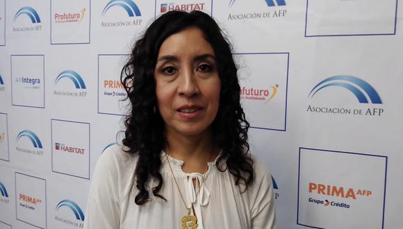 Giovanna Prialé, presidenta de la Asociación de AFP (AAFP)