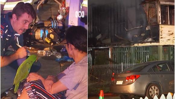 """Mientras su dueño dormía, Eric gritó """"Anton"""" al presenciar el peligro de las llamas, despertando a su amo. (Foto: ABC Brisbane / Facebook)"""