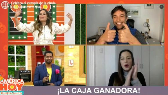 "Renzo Schuller reapareció en el programa ""América Hoy"". (Foto: Captura de video)"
