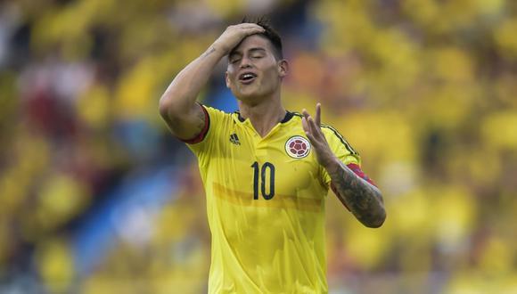 James Rodríguez se perderá los amistoso de septiembre con Colombia (Foto: AFP).