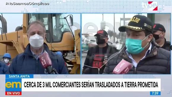 Alcalde de Santa Anita responde Muñoz tras operación en Tierra Prometida. (Video: TV Perú)