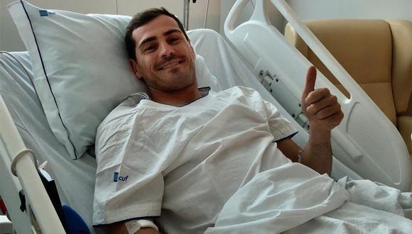 Iker Casillas se mostró feliz después de la operación. (Foto: Twitter Iker Casillas)
