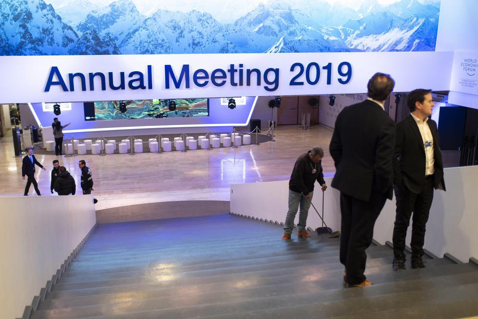 Este martes se dio inicio al Foro Económico Mundial realizado en la localida de Davos, Suiza. (Foto: EFE)