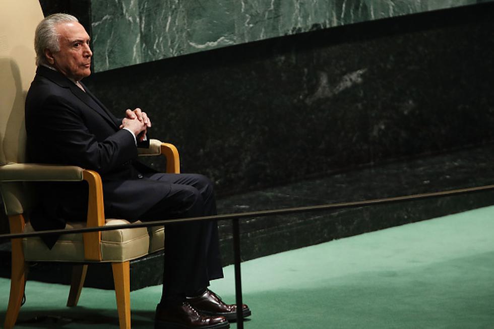 El presidente Michel Temer fue denunciado en dos ocasiones por la Fiscalía el año pasado por corrupción y formación de organización delictiva. (Getty)