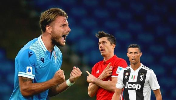 Goleador de Lazio parece inalcanzable para Cristiano Ronaldo como 'Capocannoniere' en la Serie A y arrancharía Bota de Oro a Robert  Lewandowski.