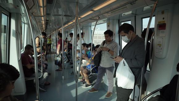 Línea 1 remarcó que la capacidad de los trenes de la Línea 1 se ha reducido de 1.200 a 200 pasajeros. (Anthony Niño de Guzmán / GEC)