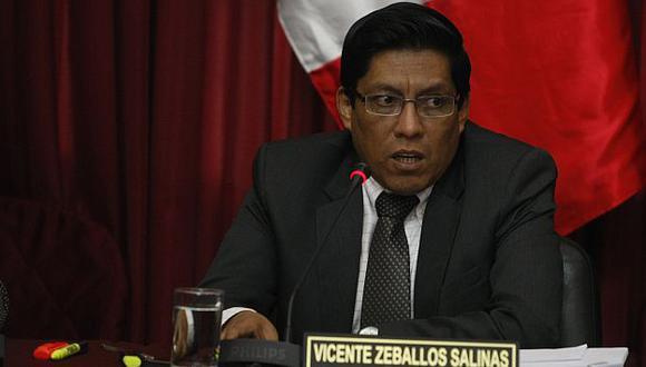 Vicente Zeballos anunció que demandará por prevaricato a magistrados. (Mario Zapata)