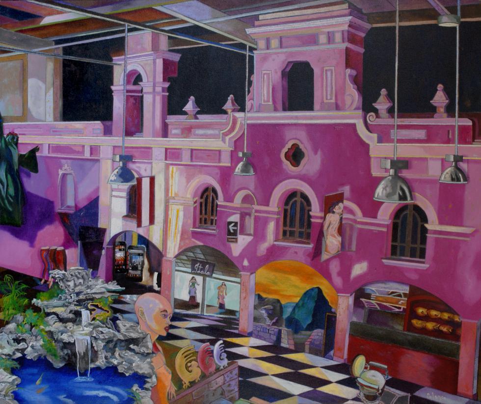 Pintura de Enrique Polanco en 'Lima. Miradas, reflexiones y lecturas en torno a la ciudad' (Difusión).