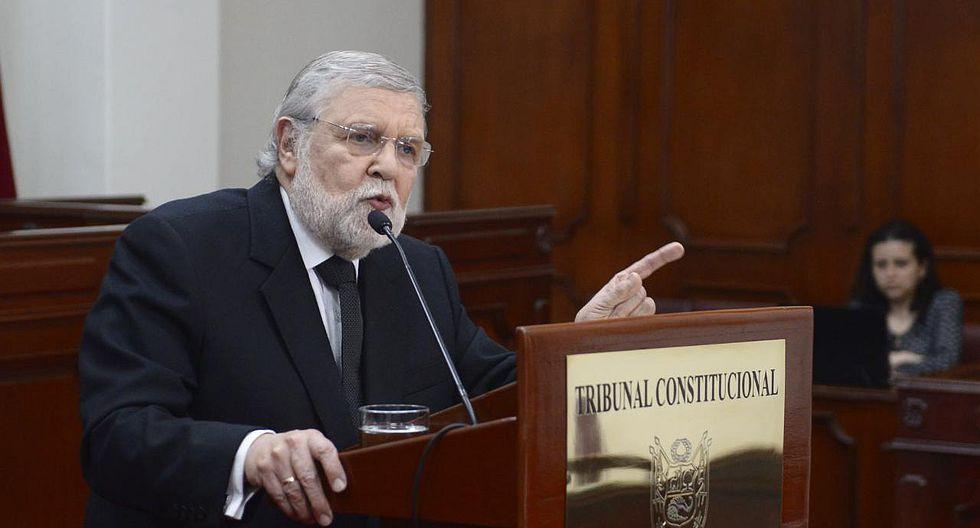 Ernesto Blume fue el ponente del caso Fujimori. (Foto: GEC)