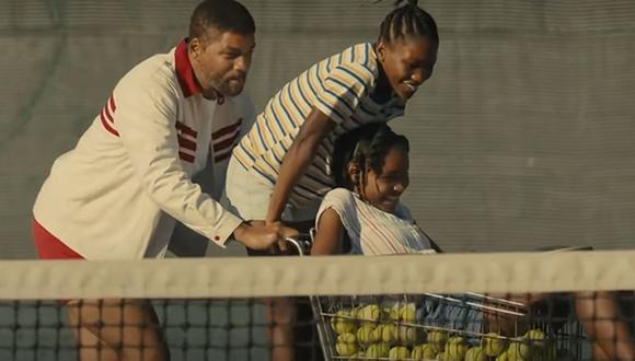 """Will Smith se convierte en padre de las hermanas Williams en """"King Richard"""". (Foto: Captura)"""