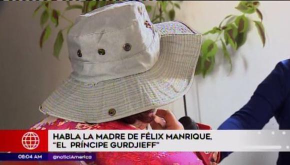 Madre de Félix Manrique revela pasajes oscuros de su hijo. (Foto: América TV)