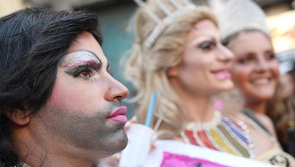 Desfile gay en Nápoles hace una semana. (EFE)