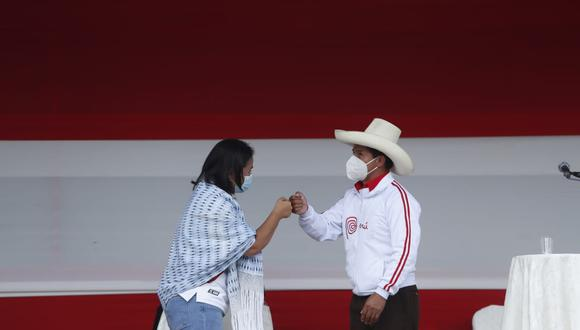 Keiko Fujimori y Pedro Castillo participaron en el debate presidencial en Chota, Cajamarca. (Hugo Pérez/GEC)