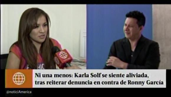 """Karla Solf: """"Ronny García no pensó que yo había decidido decir la verdad y liberarme de él"""". (Captura de video)"""