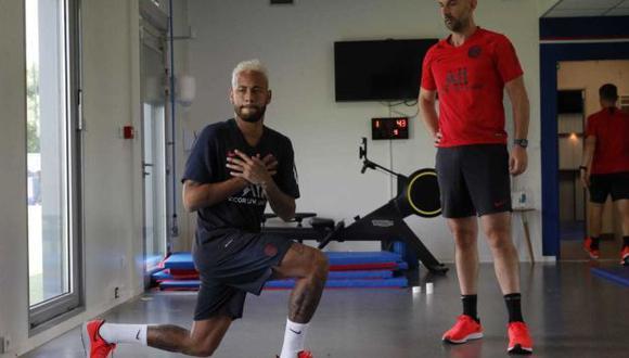 Neymar realizó trabajos en el gimnasio del PSG. (Foto: @NeymarJrSite)