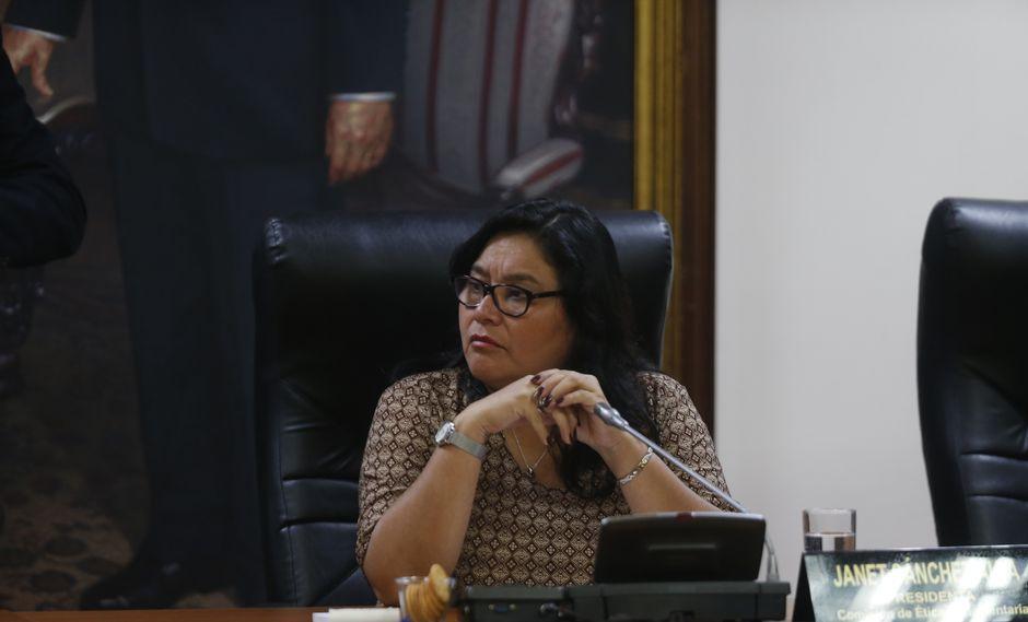 Janet Sánchez dijo que cada miembro de su familia es responsable de sus propios actos. (Foto: GEC/Mario Zapata)