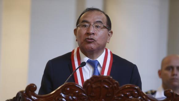 CONFERENCIA DE PRENSA DEL PRESIDENTE ELECTO DEL JURADO NACIONAL DE ELECCIONES, VICTOR TICONA