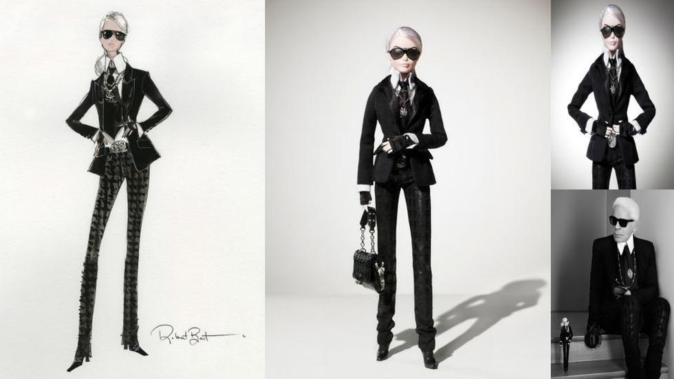 Karl Lagerfeld le rindió homenaje a la Barbie por sus 55 años. (Mattel)