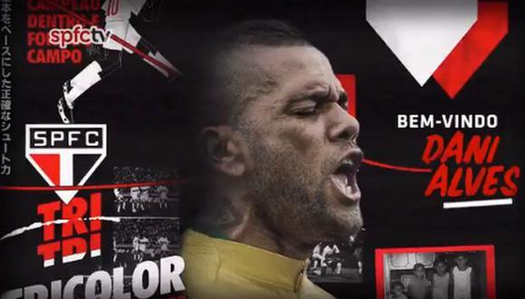 Alves llega libre a Sao Paulo después de su paso por PSG. (Foto: Twitter @SaoPauloFC)
