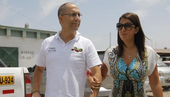 Pablo Secada y Claudia Cueva, quien lo denunció varias veces por violencia doméstica. (David Vexelman)