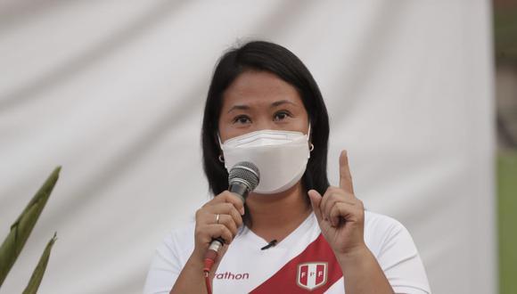 """Keiko Fujimori también afirmó que el candidato presidencial de Perú Libre solo trata de """"burlarse"""" de la población penitenciaria. (Foto: Renzo Salazar / @photo.gec)"""