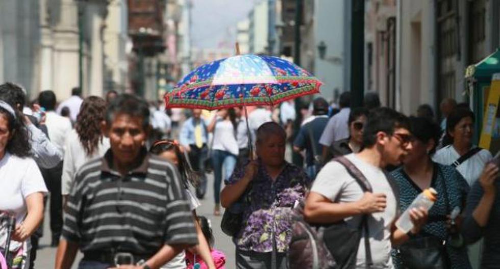 Limeños soportan un día de intenso calor. (Foto: Senamhi)