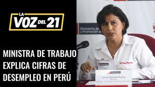 Ministra de Trabajo, Sylvia Cáceres, explica las cifras de desempleo en el Perú
