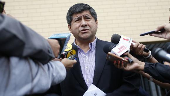 Pablo Talavera ratificó acusación constitucional contra magistrados del TC. (Luis Gonzales)
