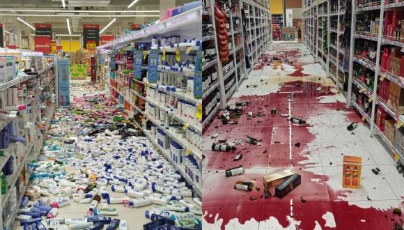 Sismo en Lima: Así quedó un supermercado de Plaza Vea tras fuerte temblor.