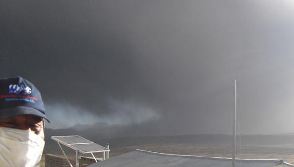 Pobladores están expuestos a cenizas del volcán. (Difusión)