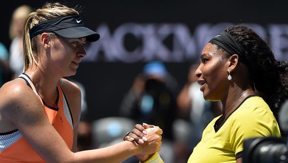 Maria Sharapova y Serena Williams, otrora clásico del tenis femenino, vuelven a encontrarse en el US Open. (Foto: AFP)
